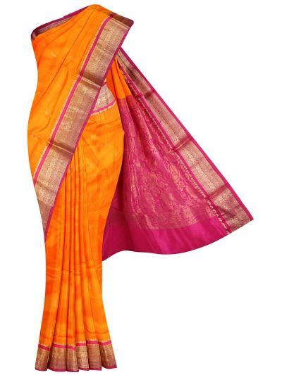 NHC4891756 - Handloom Pure Silk Nine Yards Saree