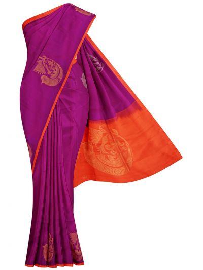 Kanmanie 1Inch Border Soft Silk Saree