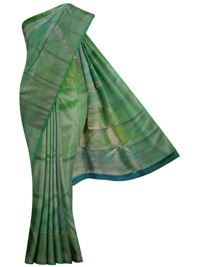 EKM-NIC6234345 - Vivaha Wedding Green Silk Saree