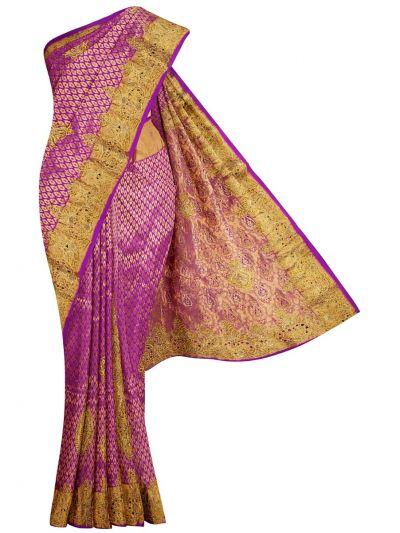 Traditional Stone Work Silk Saree - NIE7920236