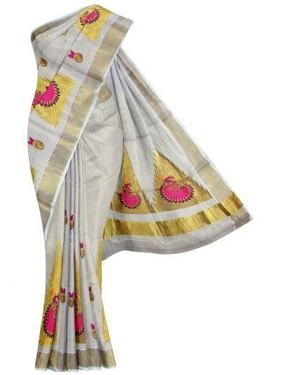 Women's Kerala Traditional Saree  - NJA8997777