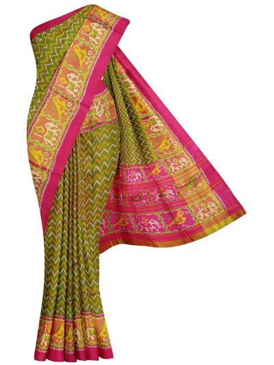 Pochampally Handloom Pure Ikat Silk Saree - NKA2402041