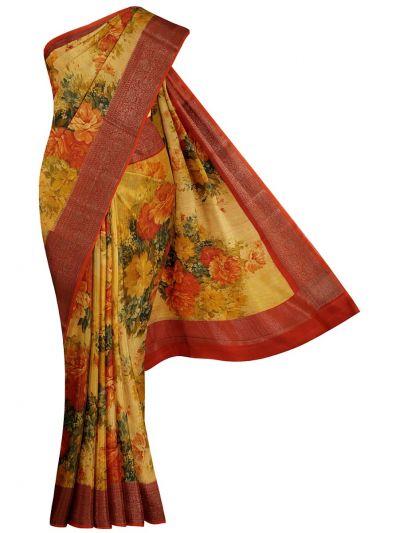 Fancy Pure Tussar Silk Printed Saree - NLD6139410