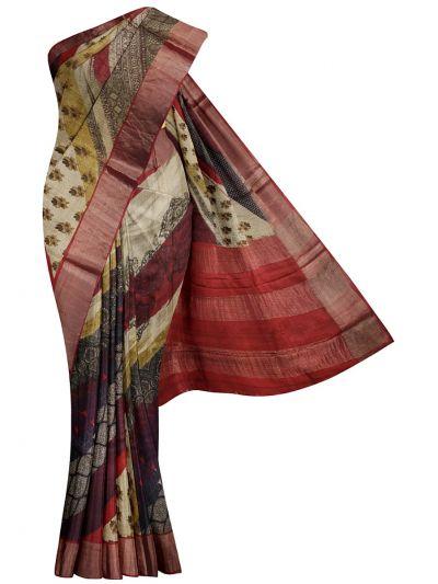 Fancy Pure Tussar Silk Printed Saree - NLD6139416