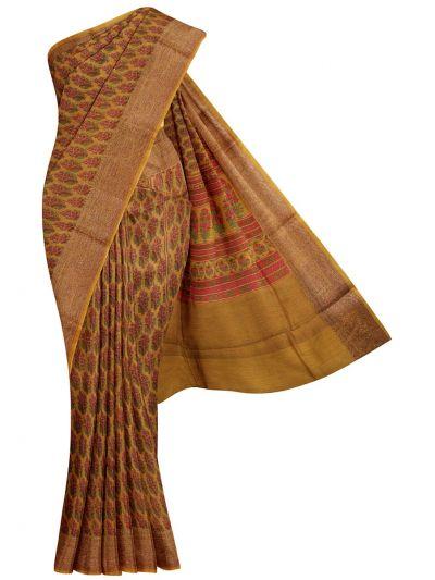 Fancy Pure Tussar Silk Printed Saree - NLE6611421