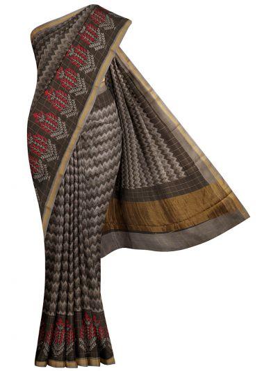 Fancy Printed Chanderi Cotton Saree - OAA0224337