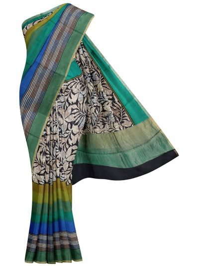 Fancy Pure Tussar Silk Printed Saree  - OAA0224365