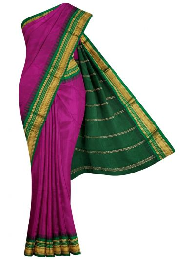 Nine Yards Silk Saree - OAB1144034