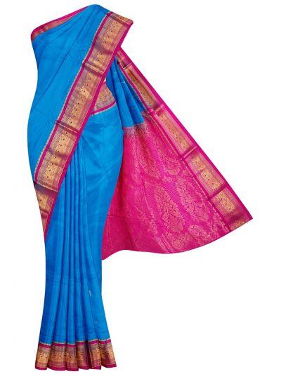 Handloom Pure Silk Nine Yards Saree - OAB1206024