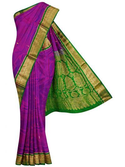 Handloom Pure Silk Nine Yards Saree - OAB1206026