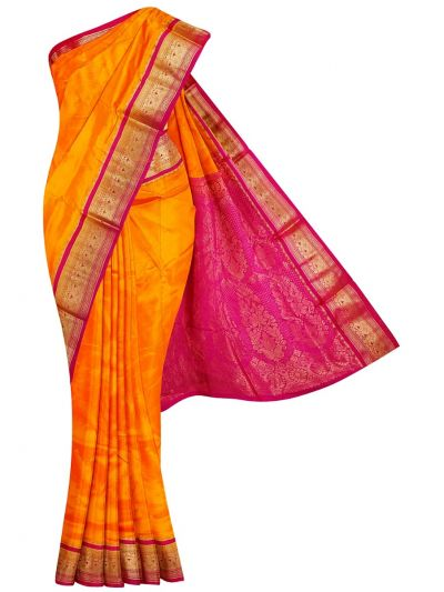 Handloom Pure Silk Nine Yards Saree - OAB1206028