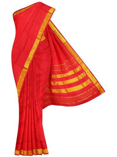 Handloom Pure Silk Nine Yards Saree - OAB1275297