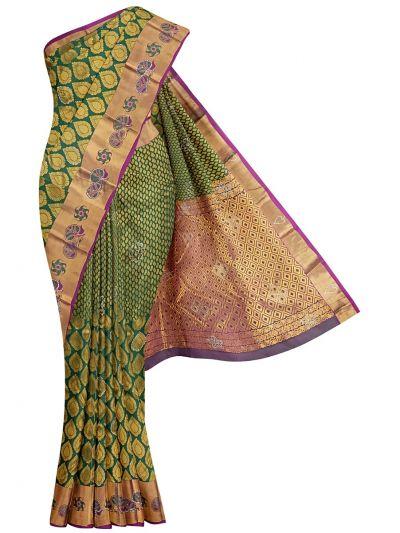 Traditional Stone Work Wedding Silk Saree - OEC5964869