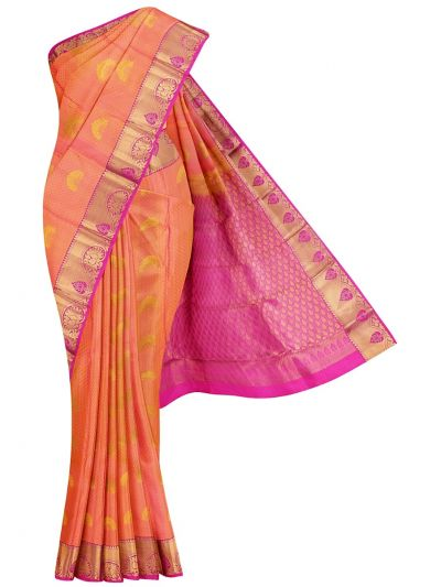 Traditional Jari Butta Silk Saree - ODD3488105