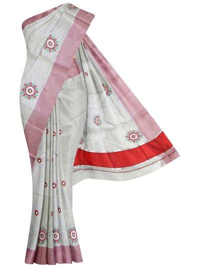 Women's Kerala Traditional Saree  - OEA4206582
