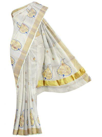 Women's Kerala Traditional Saree  -OEA4206606