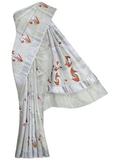 Women's Kerala Traditional Saree  - OEA4430950