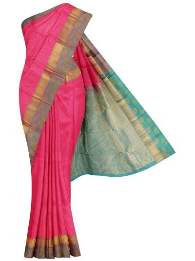 Traditional Plain Embossed Silk Saree - OEA4514695