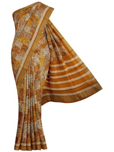 Fancy Pure Tussar Silk Printed Saree - OEA4969090