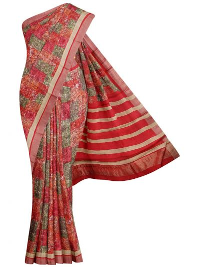 Fancy Pure Tussar Silk Printed Saree - OEA4969094