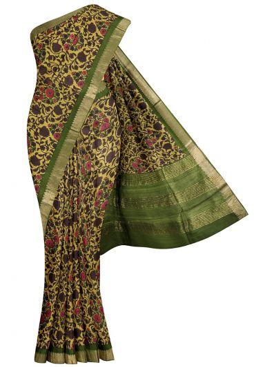 Fancy Pure Tussar Silk Printed Saree - OED6999745