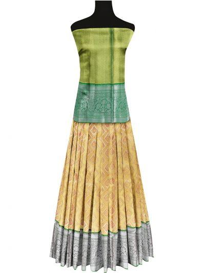 Silk Pavadai Dhavani Material Set - OFA7258482