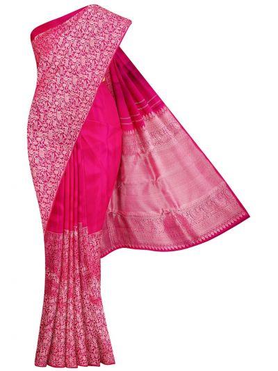 Vivaha Pink Wedding Silk Saree - OFA7831640