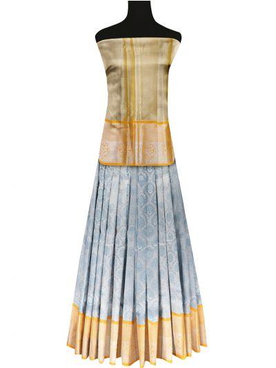 Silk Pavadai Dhavani Material Set - OFA7900150
