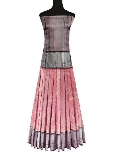 Silk Pavadai Dhavani Material Set - OFA7900172