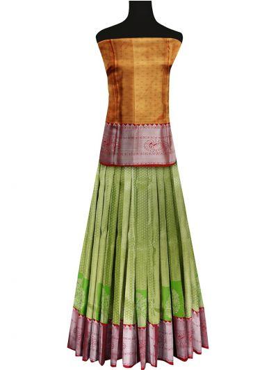 Silk Pavadai Dhavani Material Set - OFA7900175