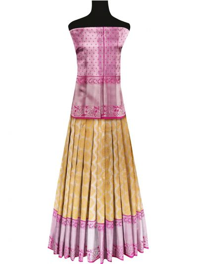 Silk Pavadai Dhavani Material Set - OFA7900178