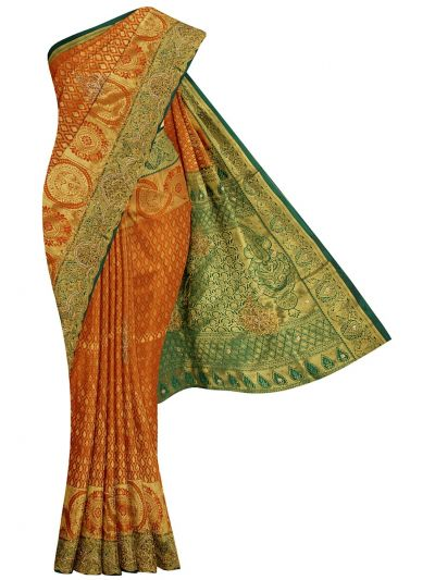 Traditional Stone Work Silk Saree - OFB7961082