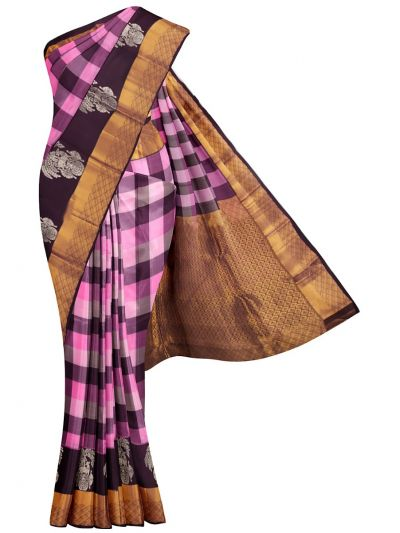 MFA9416318-Bairavi Checked Gift Art Silk Saree