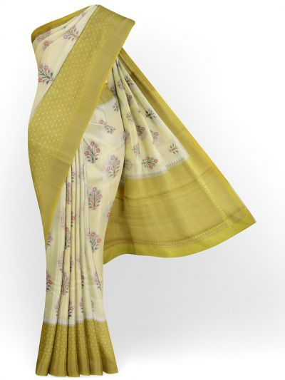 Kyathi Exclusive Dupion Tuusar Soft Silk Saree - MFB6601250