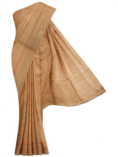 Kyathi Exclusive Thread Embroidery Tussar Silk Saree - MFB6637628