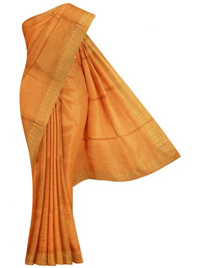 Kyathi Exclusive Thread Embroidery Tussar Silk Saree - MFB6637636