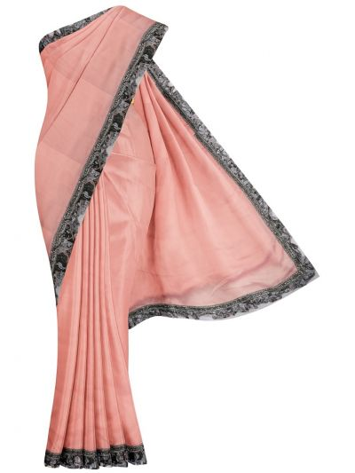 MHD2250162-Khyathi Fancy Georgette Saree with Readymade Blouse