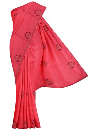 MHD2250164-Khyathi Fancy Georgette Saree with Readymade Blouse