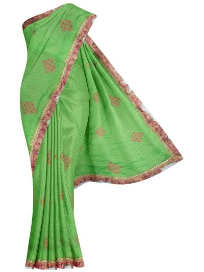 MHD2250167-Khyathi Fancy Georgette Saree with Readymade Blouse