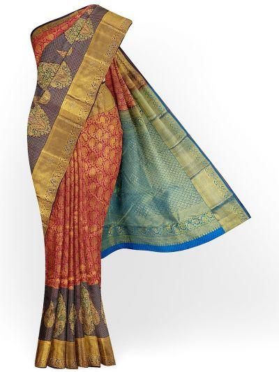 MHD2627908 - Traditional Stone work Silk Saree
