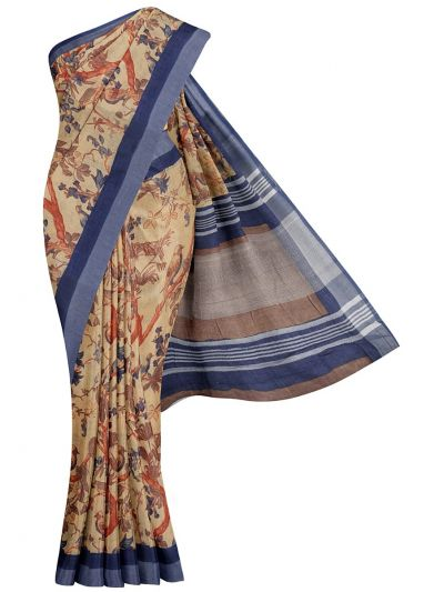 MIB3584404-Khyathi Linen Cotton Saree