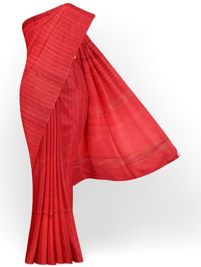 Sahithyam Exclusive Dupion Tuusar Silk Saree - MIC4277874
