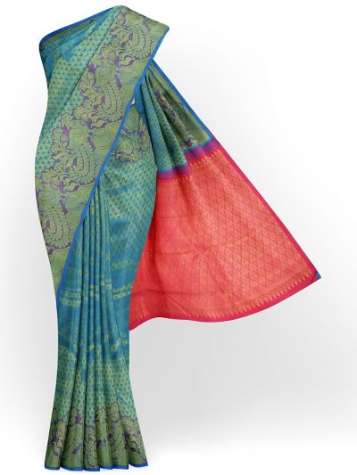 Estrila Exclusive Bridal Fancy Border Handloom Kanchipuram Silk Saree - MID4564157