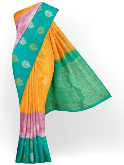 Vivaha Exclusive Bridal Fancy Border Handloom Kanchipuram Silk Saree - MID4571957
