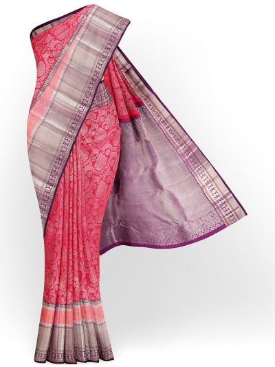 Vivaha Exclusive Bridal Zari Border and Pallu Handloom Kanchipuram Silk Saree - MID4733988