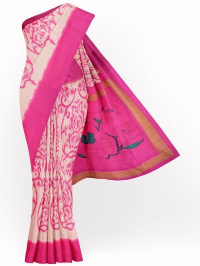 MID4886075-Fancy Printed Art Tussar Saree