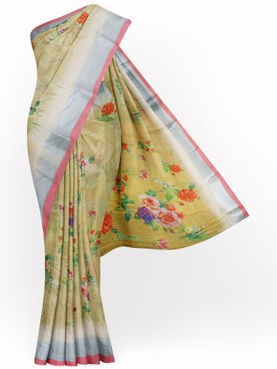 MID4886108-Fancy Printed Art Tussar Saree