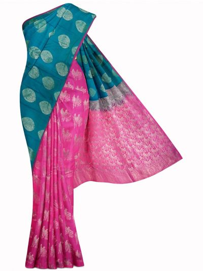 MID5570249-Vipanji Traditional Half and Half Design Silk Saree