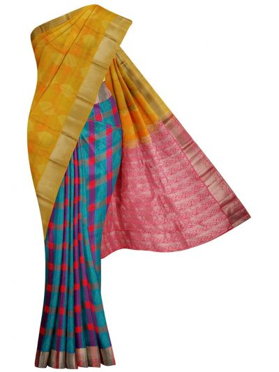 MID5570264-Vipanji Traditional Half and Half Design Silk Saree