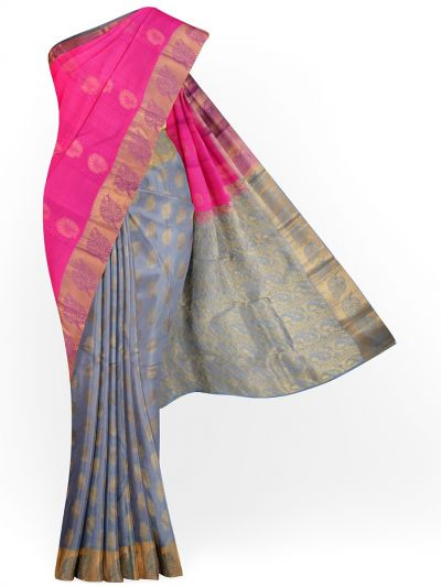 MID5570273-Vipanji Traditional Half and Half Design Silk Saree
